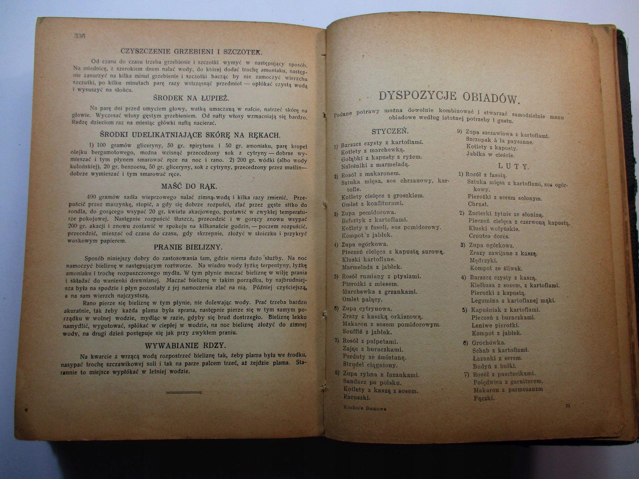 Współczesna Kuchnia Domowa A Gniewkowska 1938