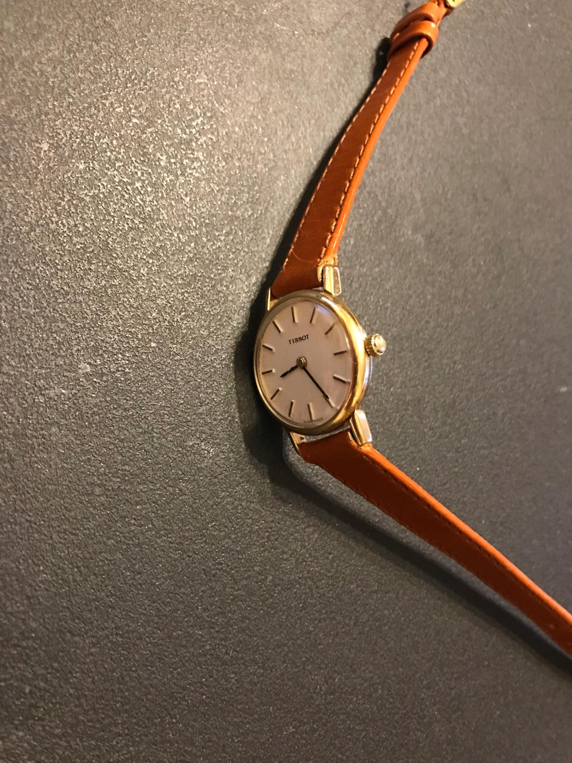 Przepiękny zegarek TISSOT mechaniczy złocony