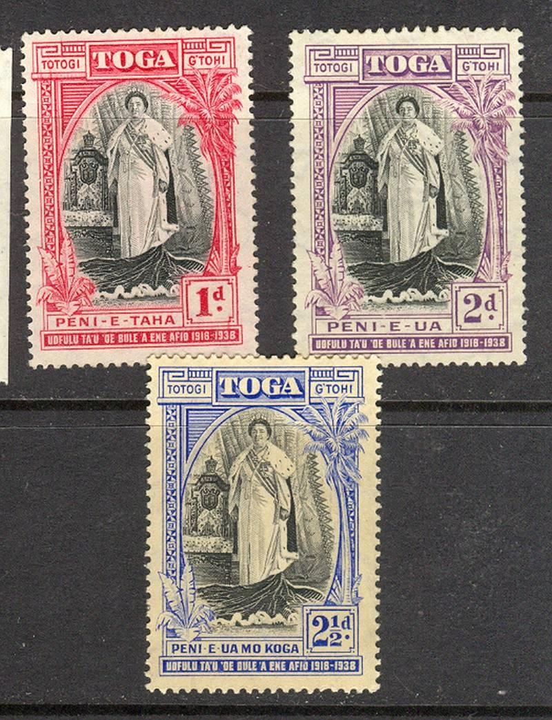 Kol. Bryt. TOGA / TONGA ISLANDS 1938 - czyste