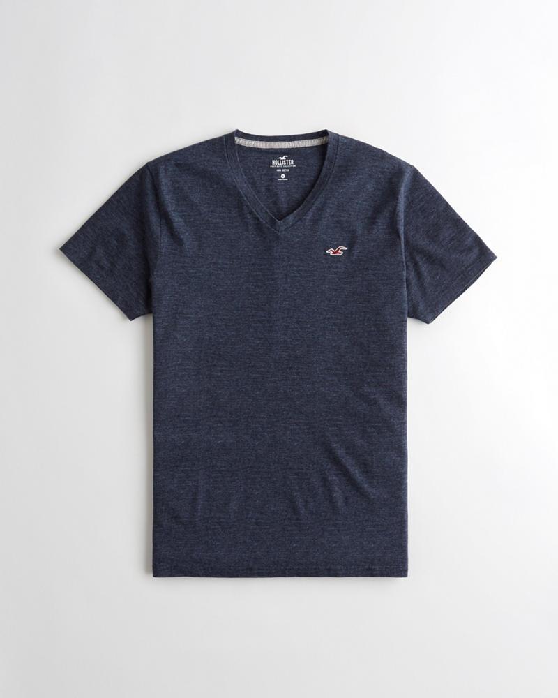 Hollister Must-Have V-Neck T-Shirt - rozmiar M