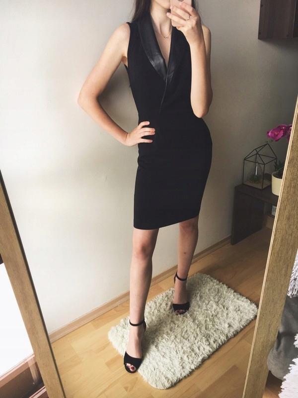 c3b336401319dd Sukienka z dekoltem czarna elegancka seksowna XS/S - 7521886552 ...