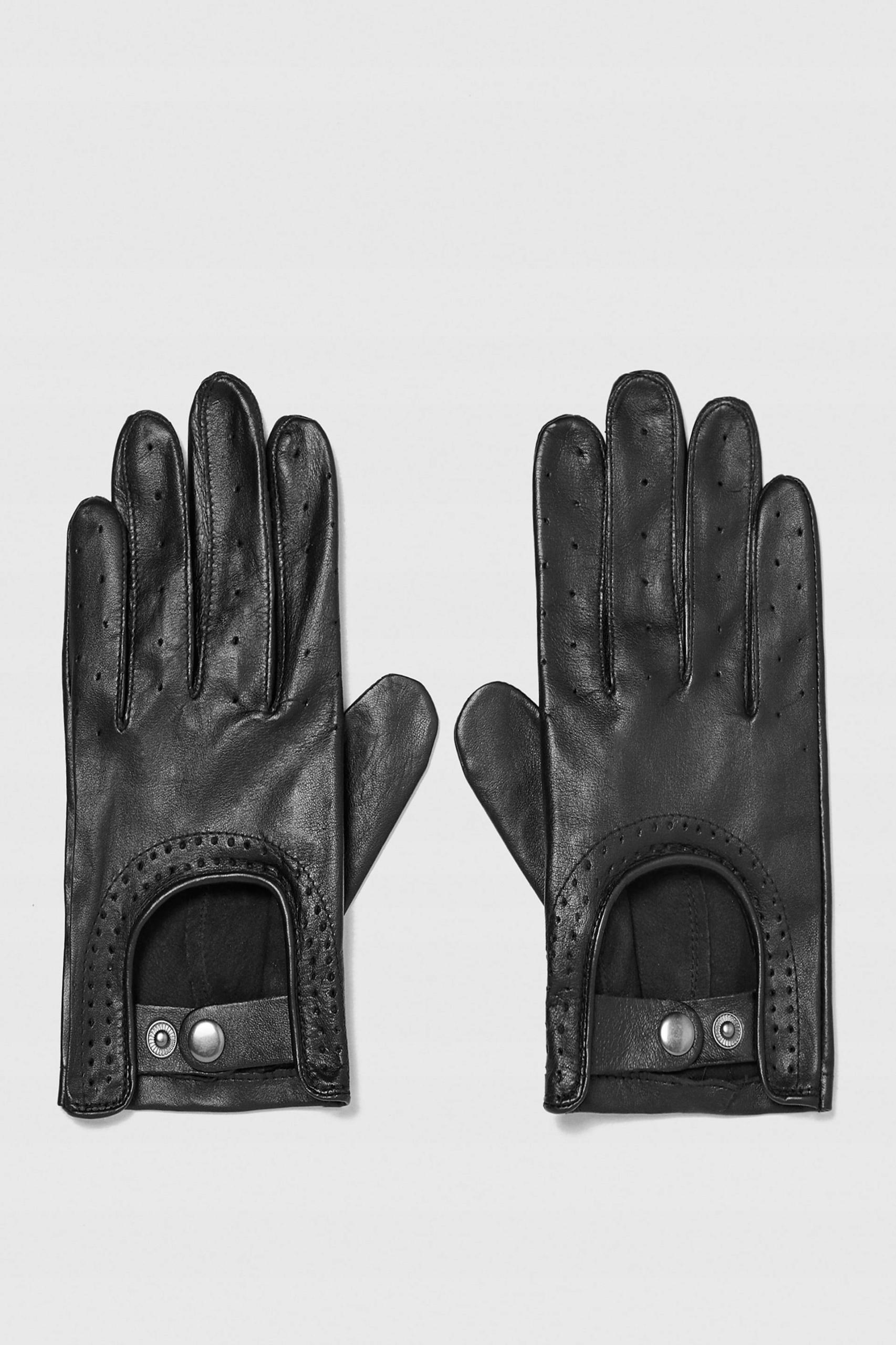 ZARA MAN skórzane rękawiczki do samochodu driver