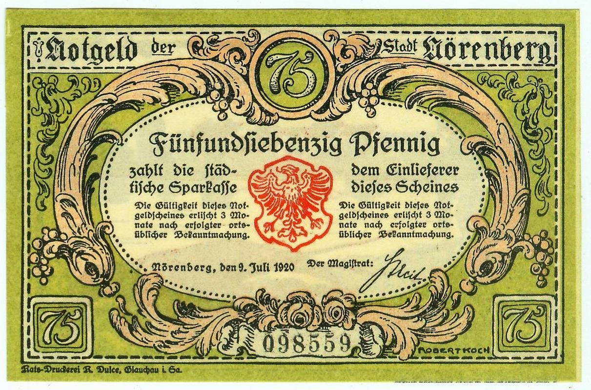 IŃSKO 75 FENIGÓW 1.6.1920 - idealny !!!