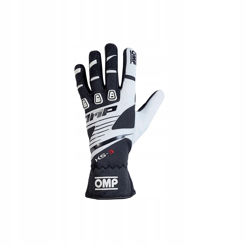 Rękawice OMP KS-3 czarno - białe (M)