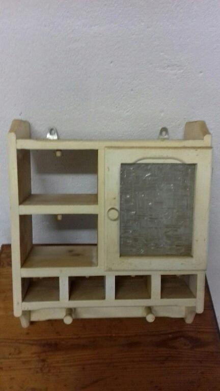 Drewniana Półka Do Kuchni Na Przyprawy Antyk