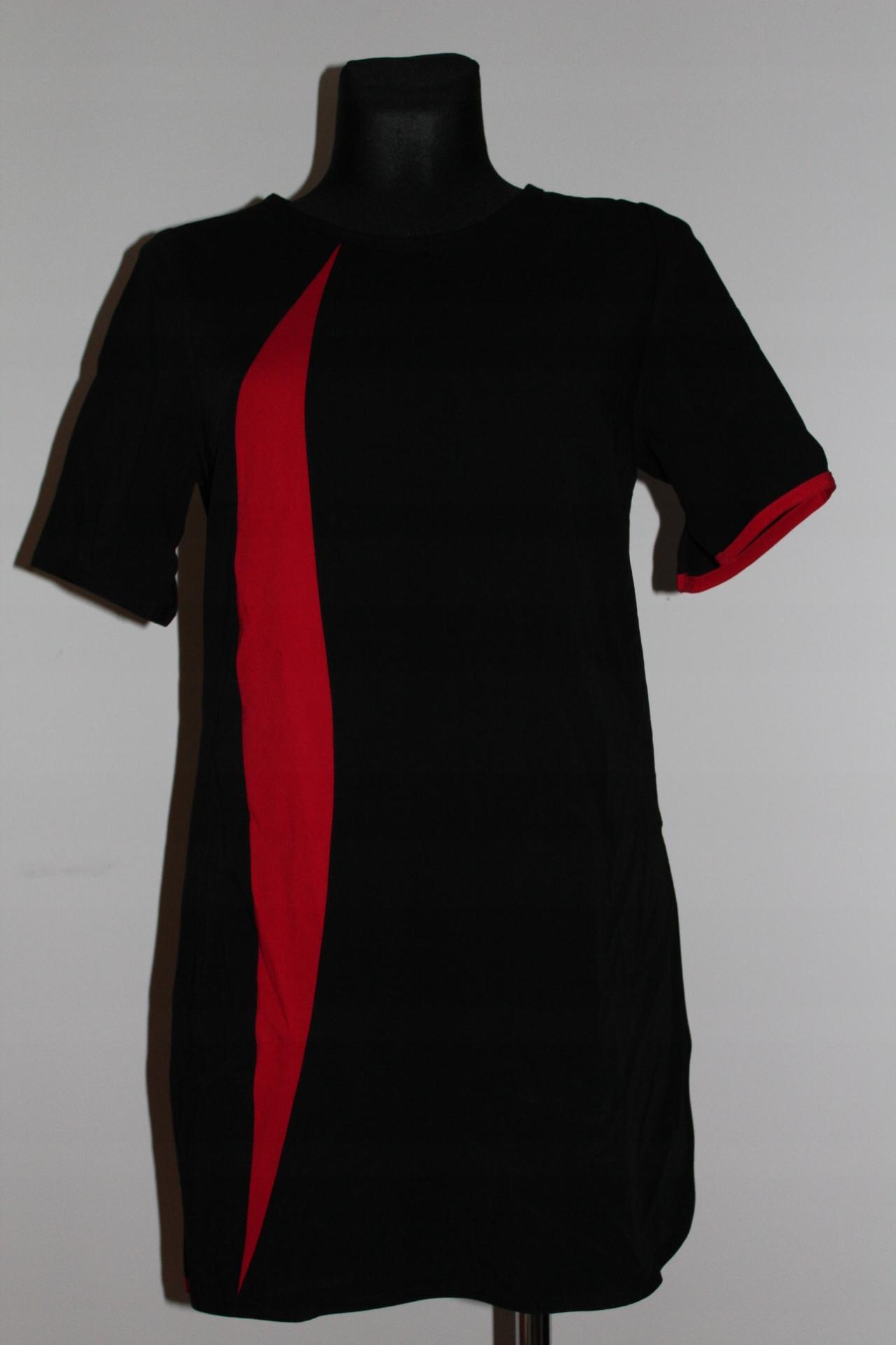 tunika czerń czerwona glamour zamek L 40