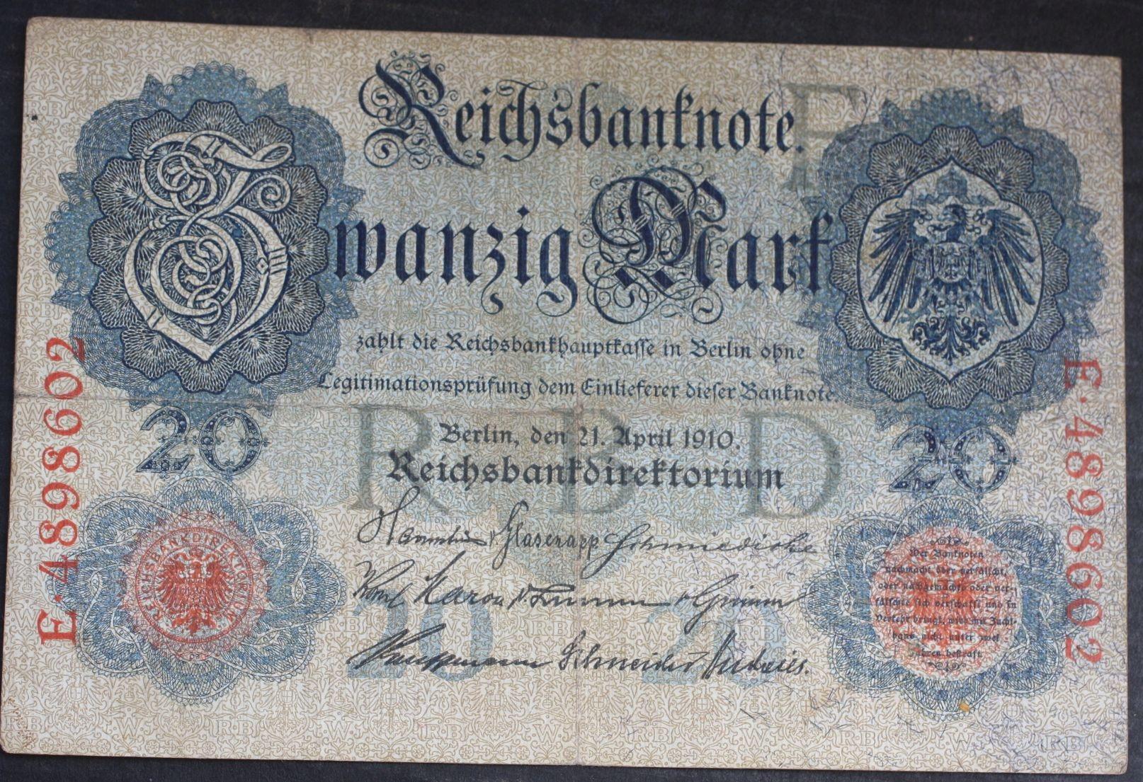#20 mark 1910 Ros.40 B... od 2,99