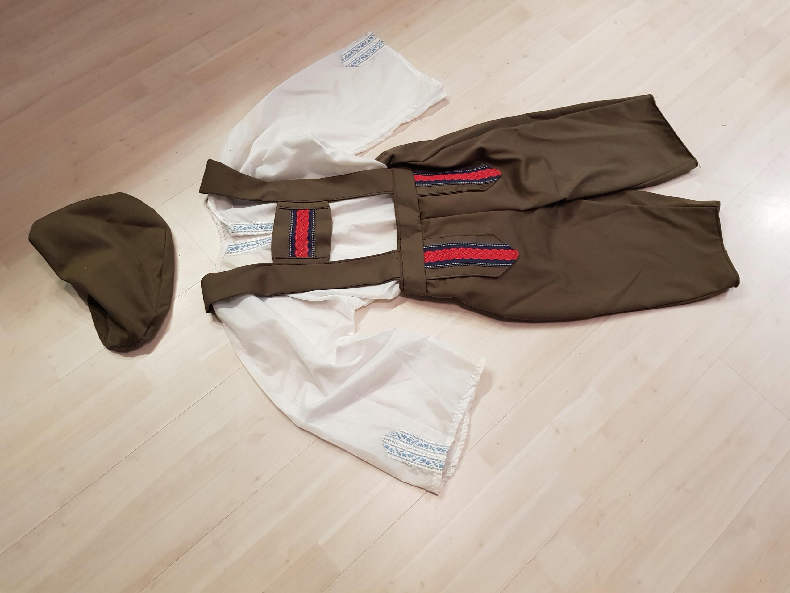 KOSTIUM spodnie bawarskie bawarczyk ogrodniczki