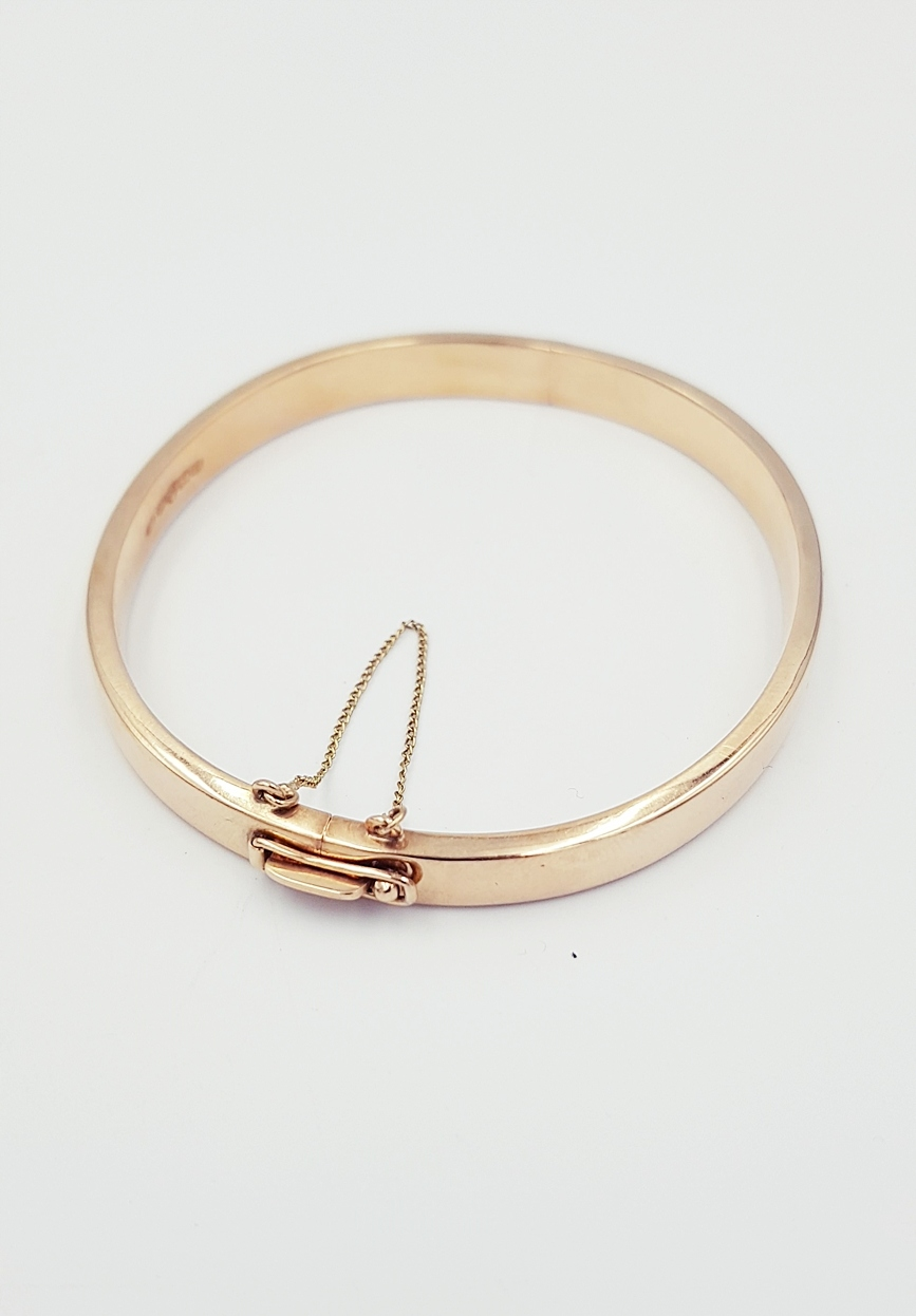 Sztywna damska zlota bransoletka 585 10,22g