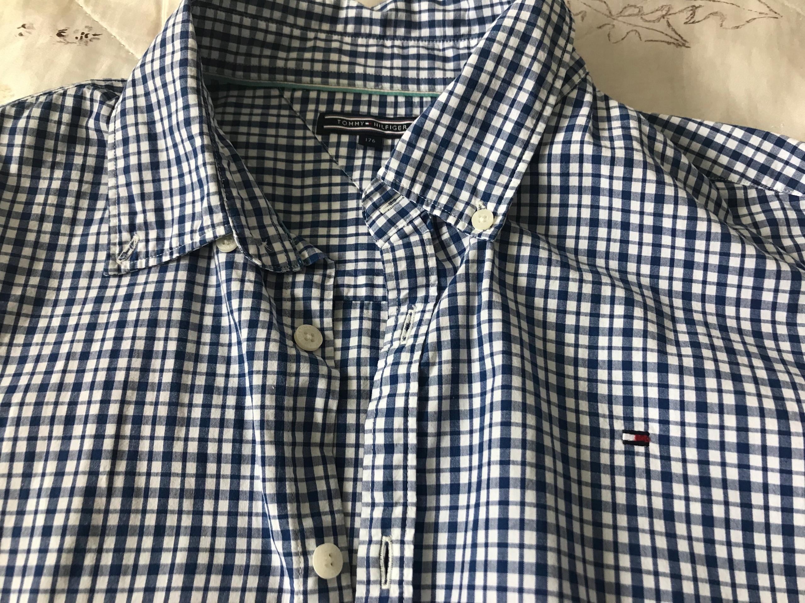 Koszula męska w kratę Tommy Hilfiger rozmiar S