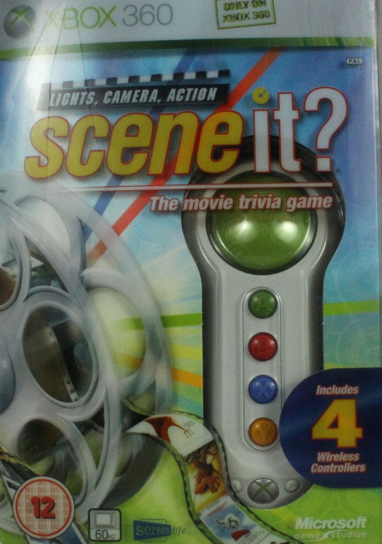 SCENE IT? LIGHTS, CAMERA, ACTION + BUZZERY XBOX360