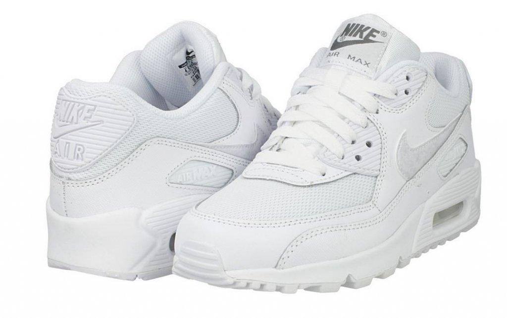 buy popular b850c 9f6d5 Buty Damskie białe NIKE AIR MAX 90 MESH (GS) - 7614803532 ...