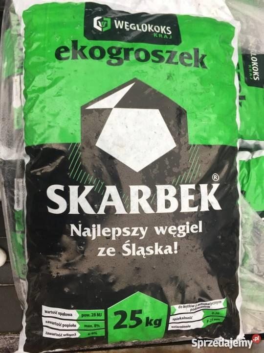 Ekogroszek SKARBEK, POLSKI węgiel workowany 28MJ
