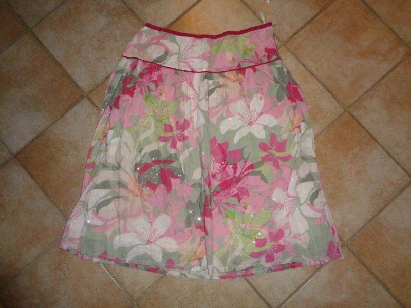 Next-spódnica bawełnina w kwiaty,cekiny rozm.40