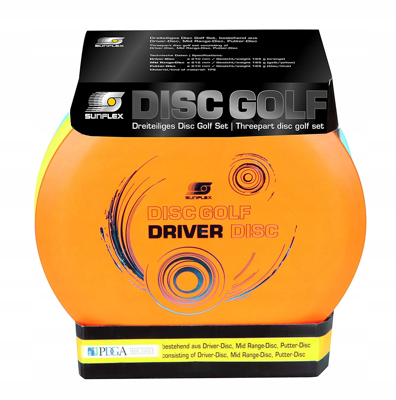 Zestaw Sunflex Frisbee Disc Golf. 3-częściowy