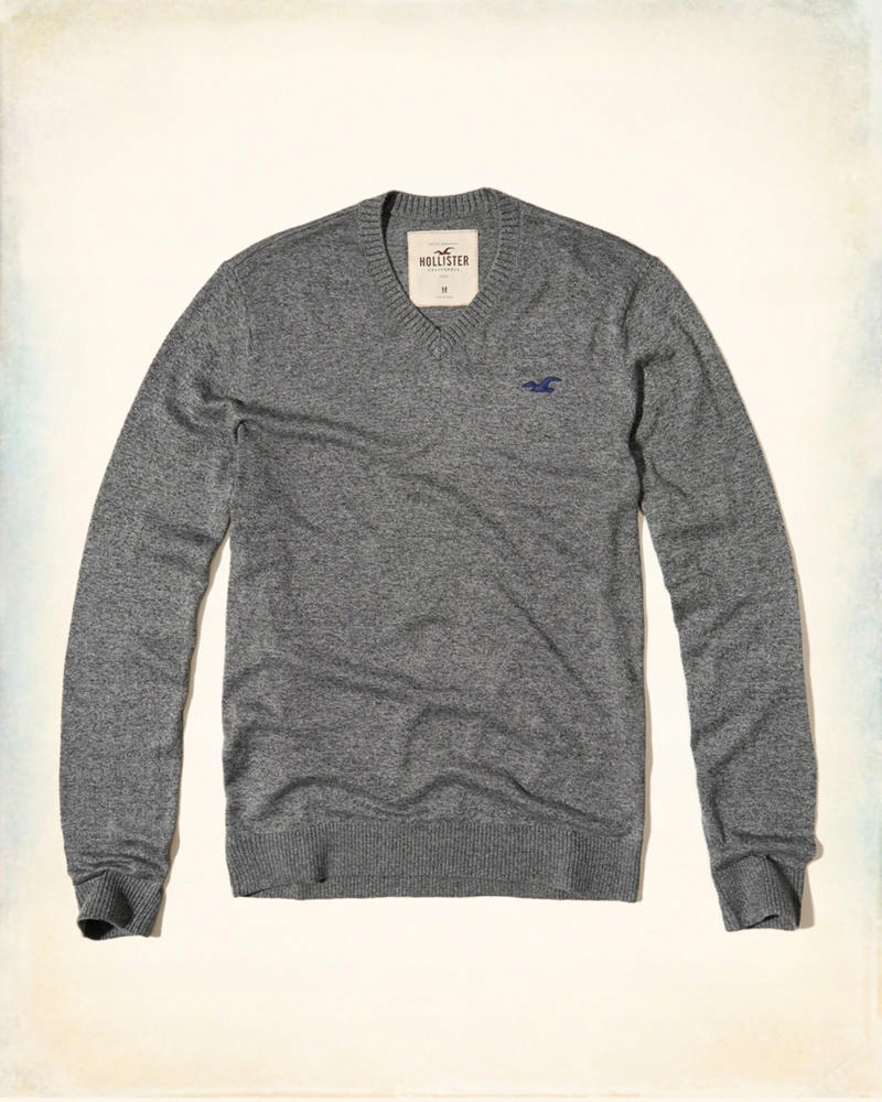 Hollister Icon Lightweight V-Neck Sweater L