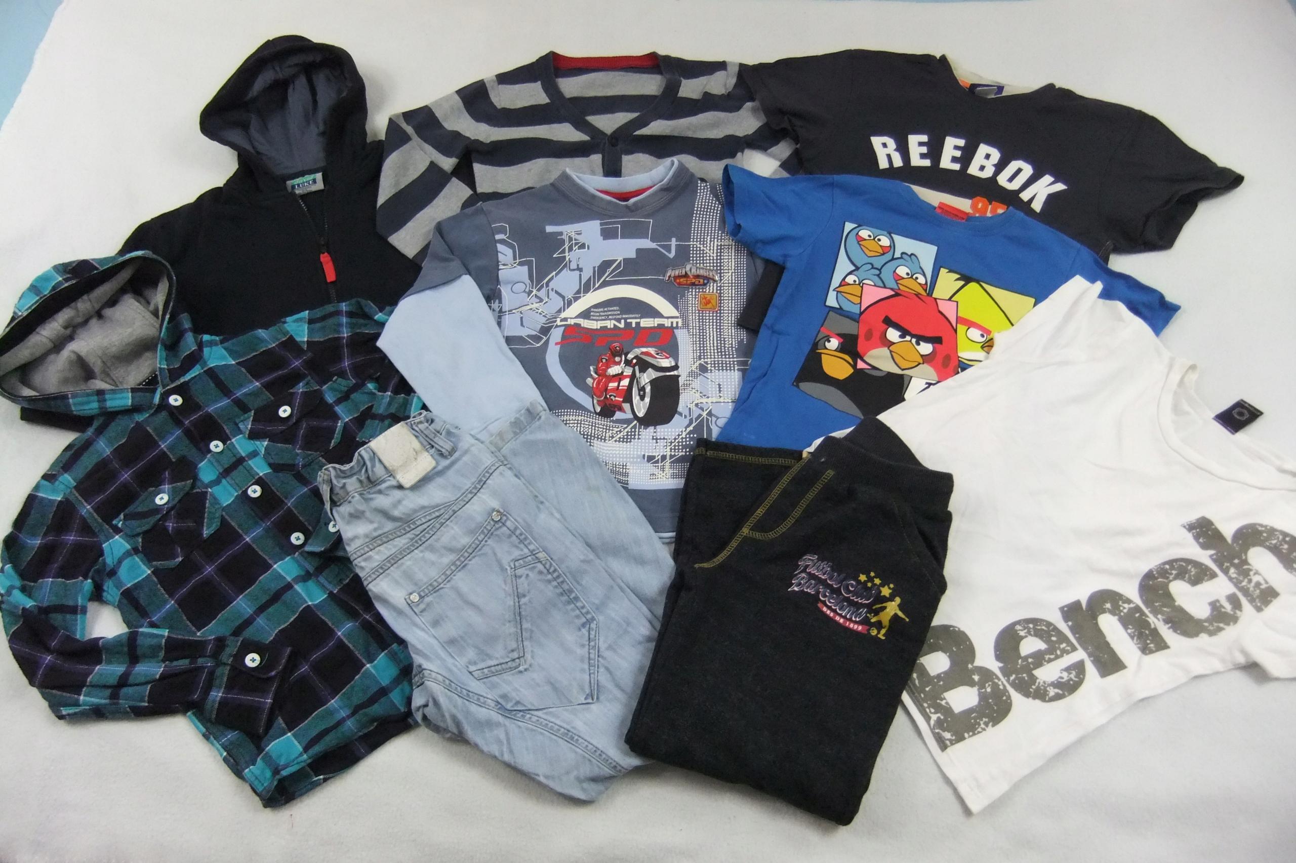 paka ubrania dla chłopca 134/140 zestaw 9szt