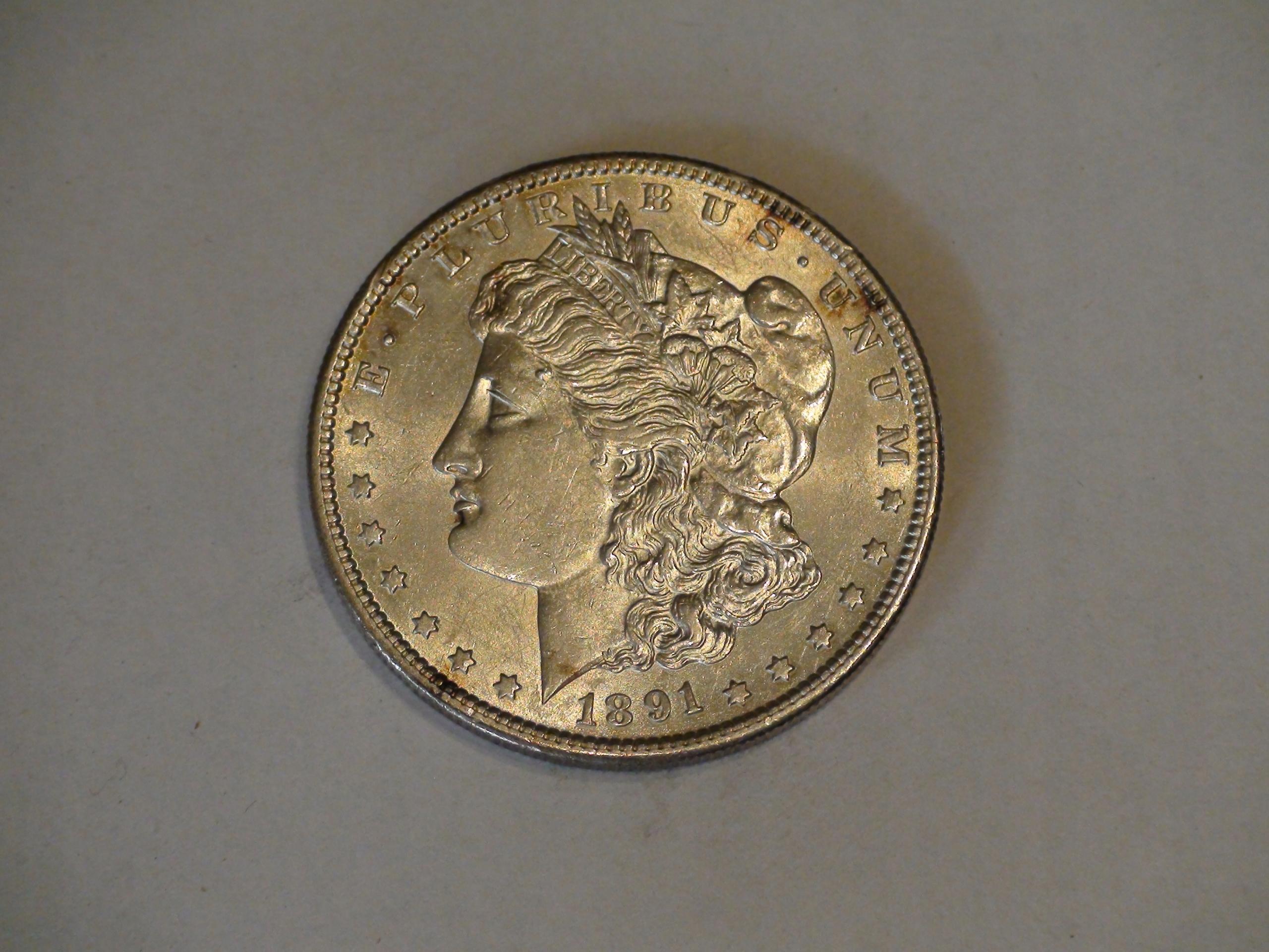 One Dollar Morgan 1891S