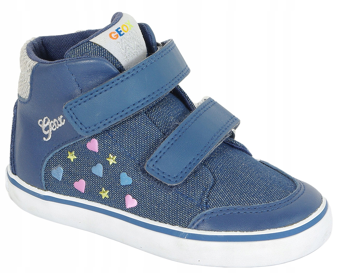 GEOX Kiwi A sneakers Shi Denim+Nappa Navy 21