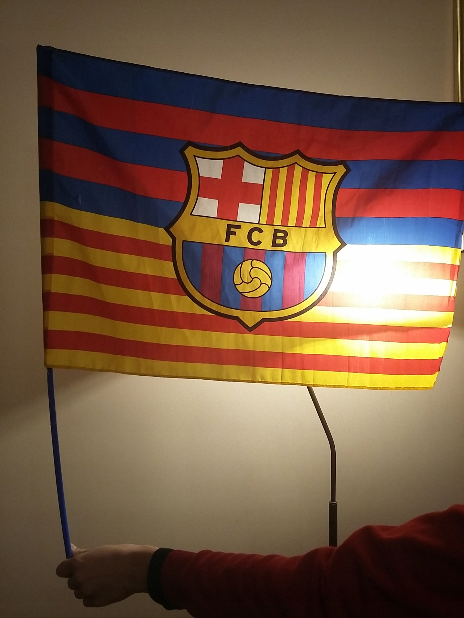 Flaga Fc Barcelona prosto z Camp Nou ! El Clasico
