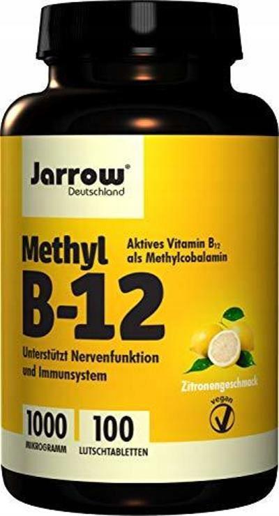JARROW METHYL B-12 METYLOKOBALAMINA 100 TABLETEK