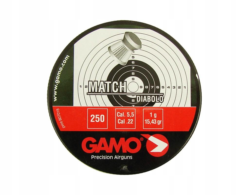 Śrut Gamo Match 5,5 mm 250 szt.