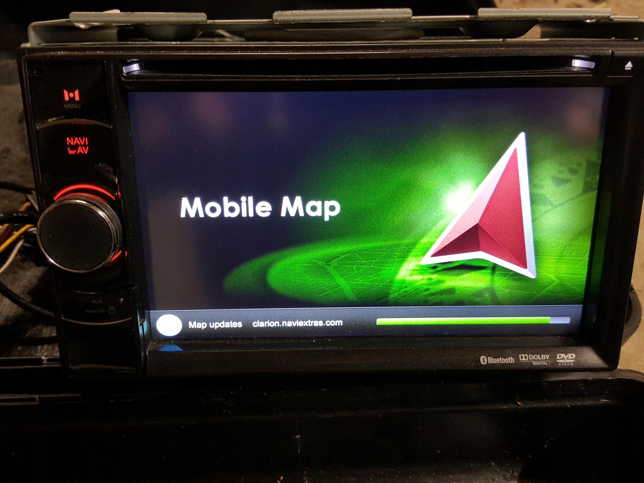 Radio DVD Nawigacja TOMTOM Clarion NX501E Uszkodzo - 7859424909