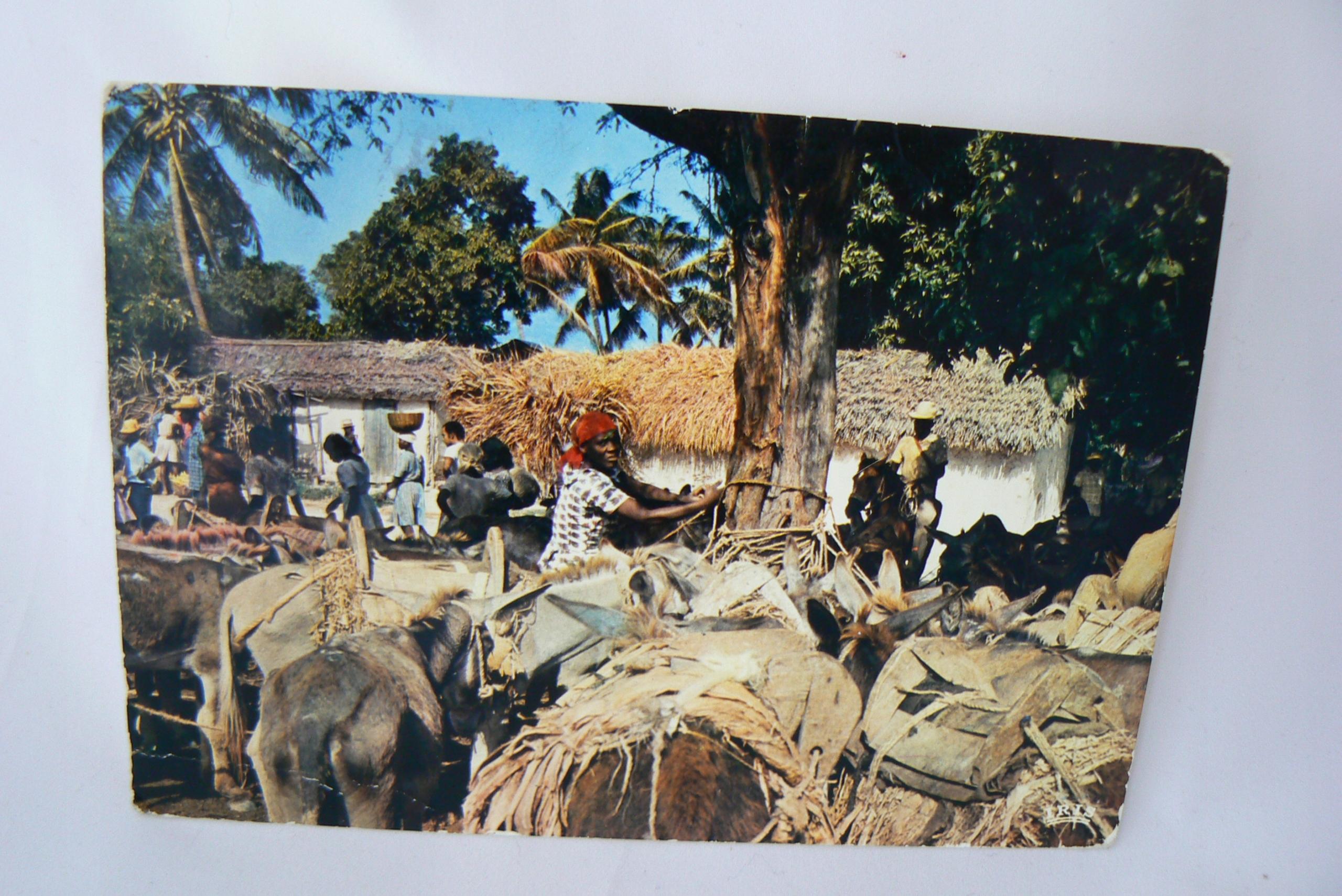 5-Pocztówka Haiti targ, z obiegu, 1978