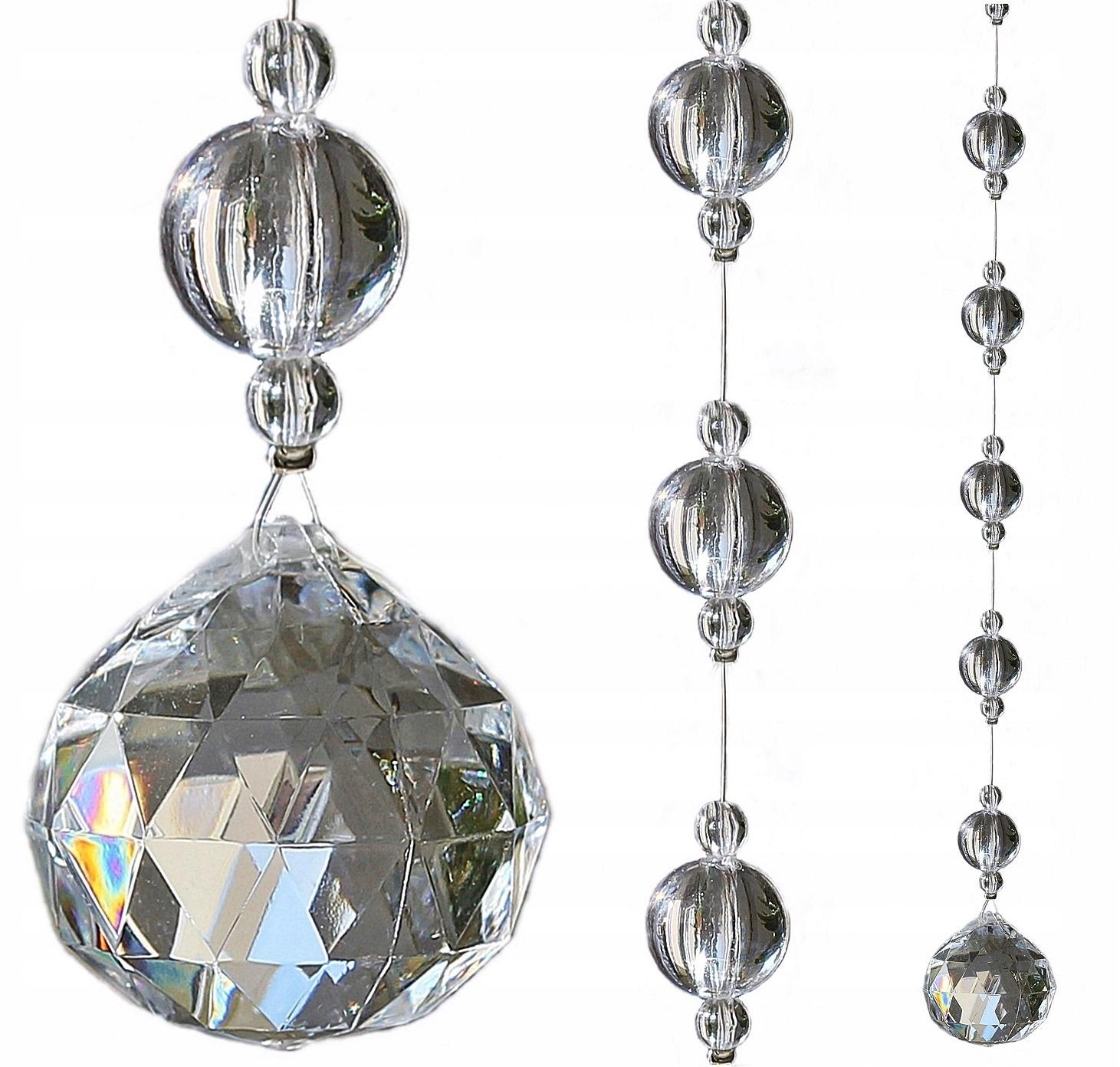 Piękne Kule Koraliki Na Okno Kryształki 60 Cm