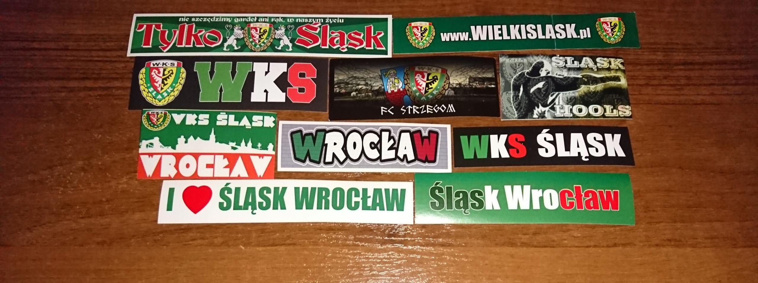Vlepki wlepki Śląsk Wrocław Lechia Motor Miedź
