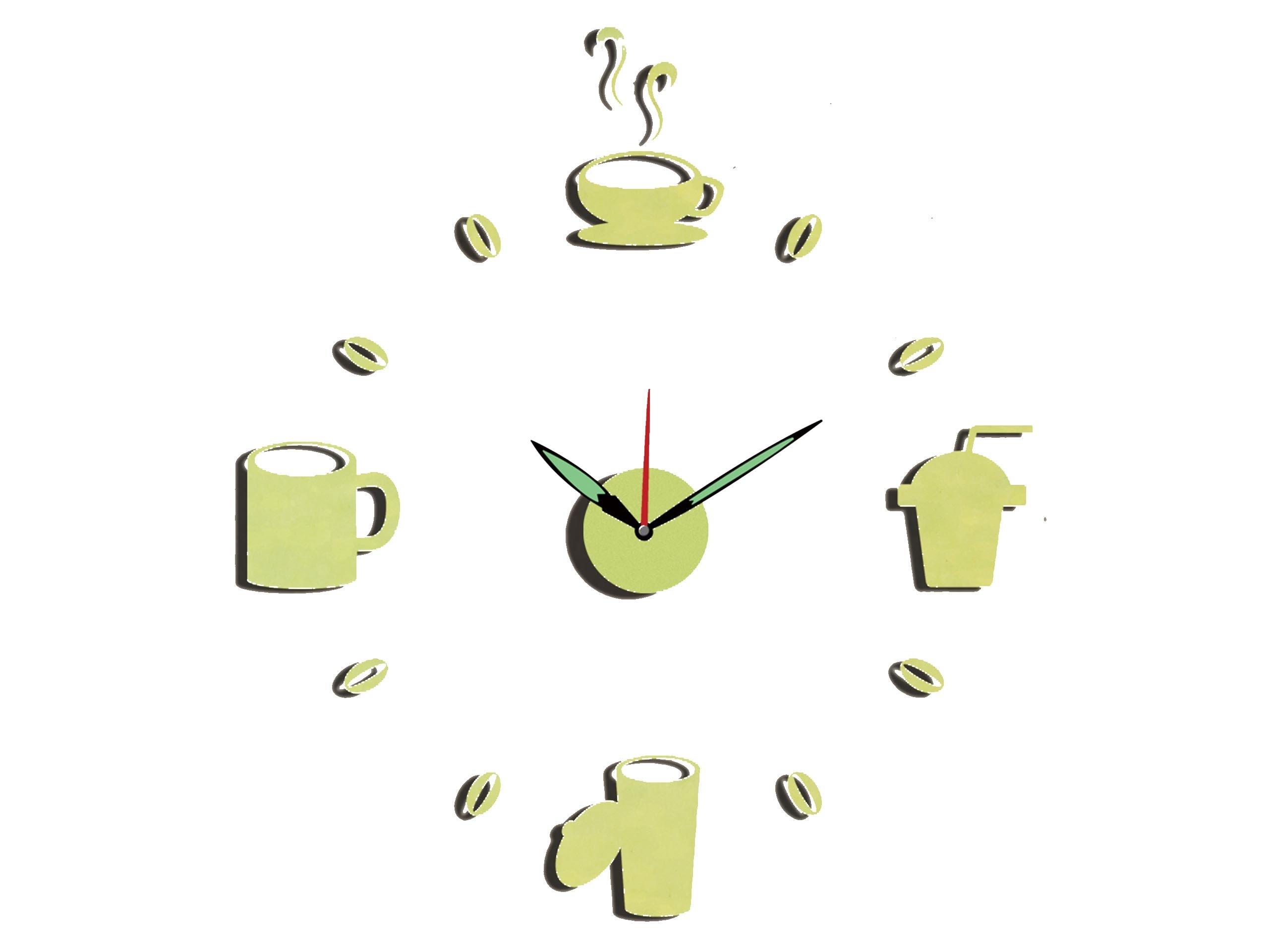 Zegar ścienny Naklejany Drink Napoje Do Kuchni Diy