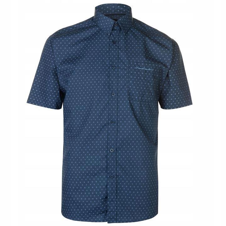 E1234 PIERRE CARDIN koszula krótki rękaw męska 3XL