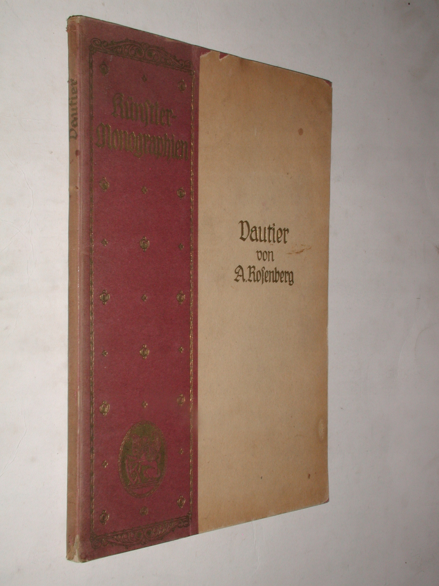 DAUTIER - Rosenberg (1897) KUNSTLER MONOGRAPHIEN