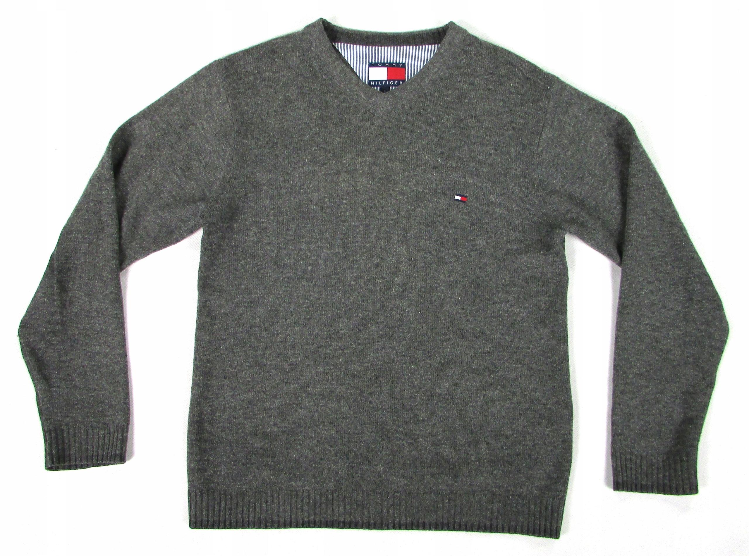** TOMMY HILFIGER **__S__Modny, wełniany sweter