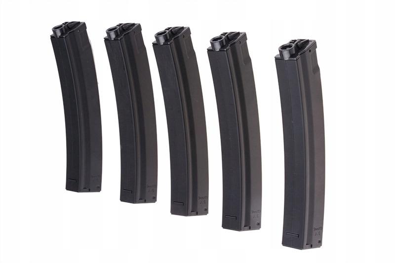 Zestaw 5 magazynków ASG Hi-Cap do replik typu MP5