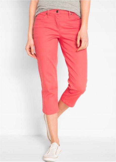 Spodnie 7/8 malinowy róż Bawełna stretch R 44