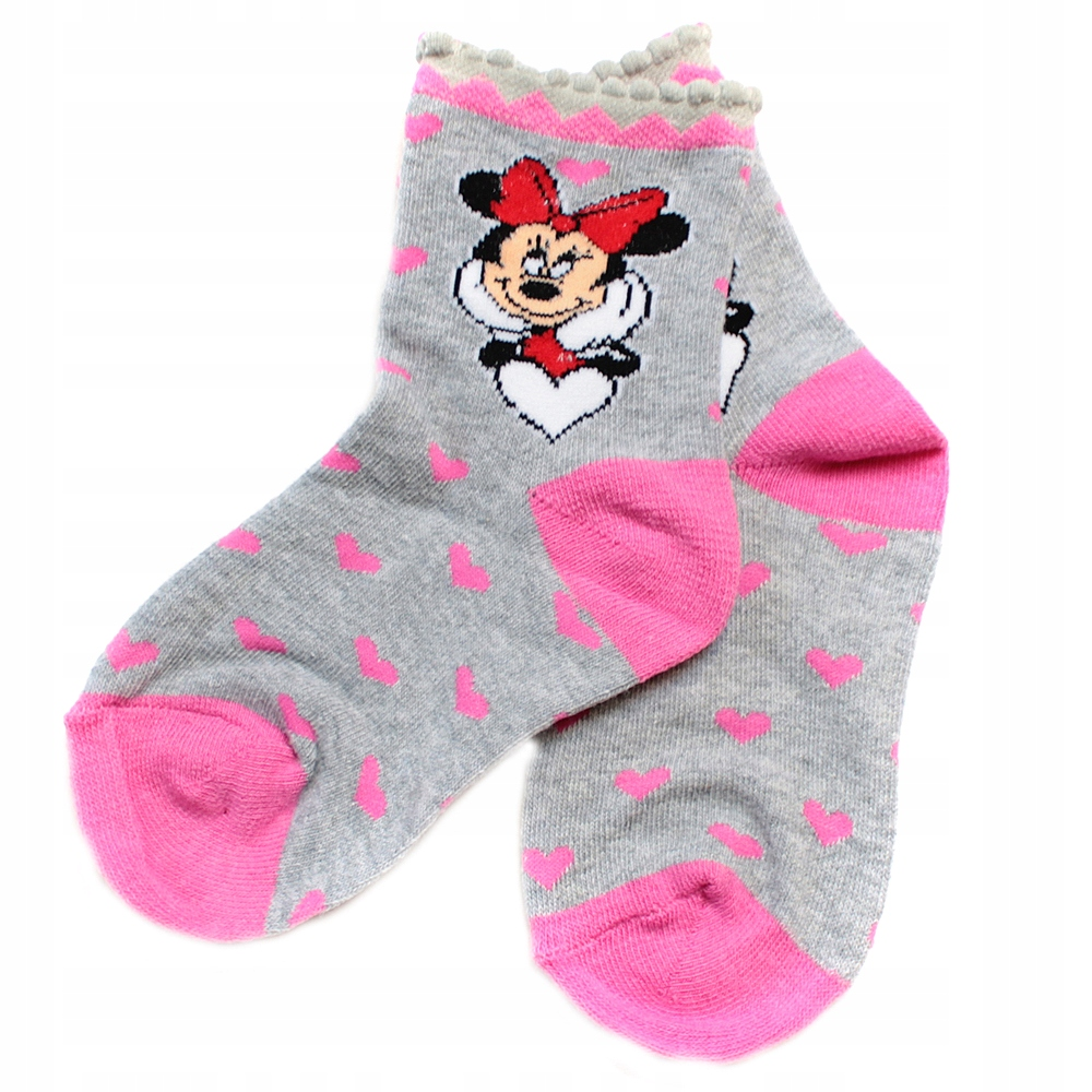 R:23/26 SKARPETKI MINNIE MOUSE DISNEY 2-PAK