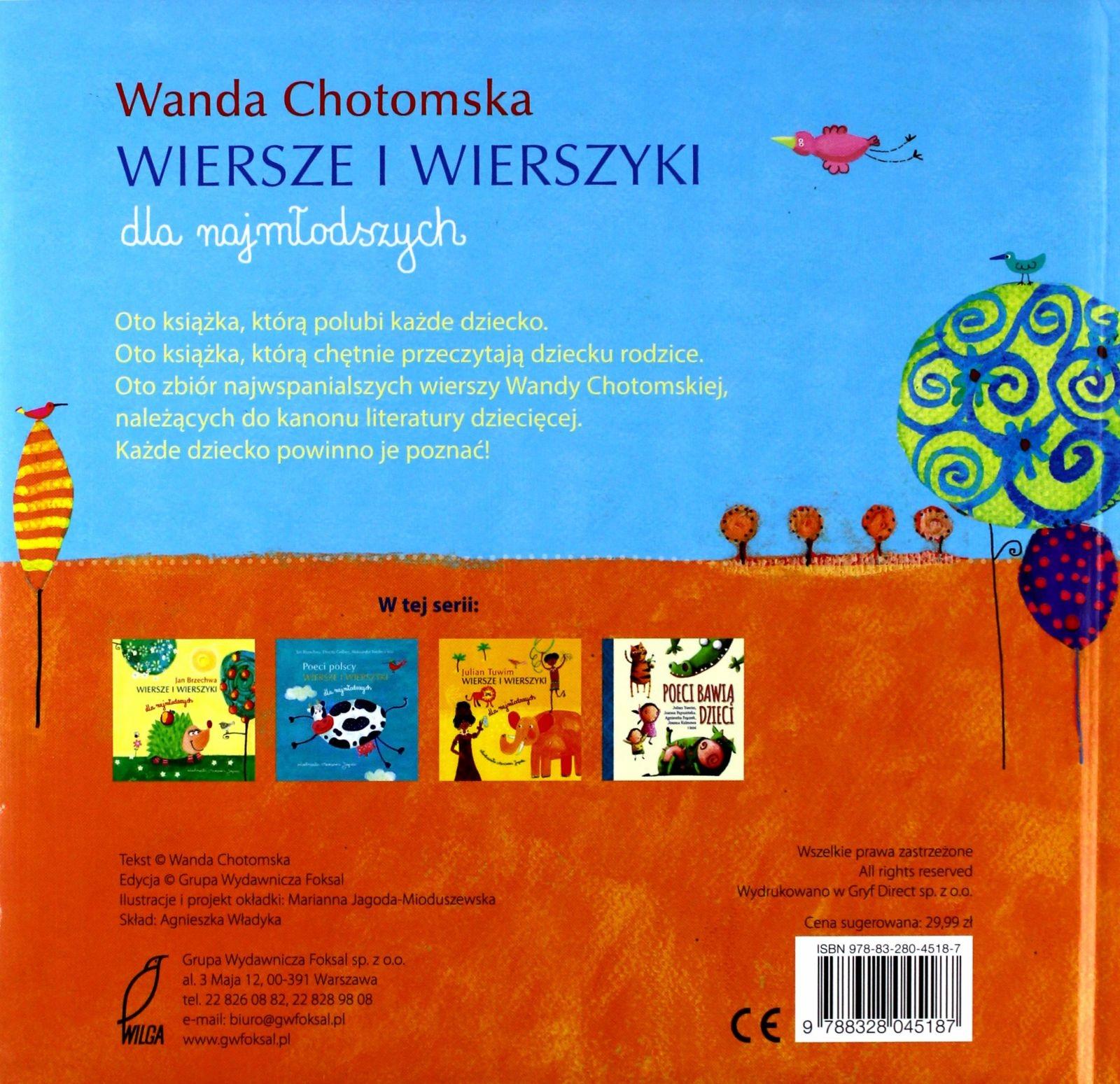 Wiersze I Wierszyki Wanda Chotomska Wanda Chot