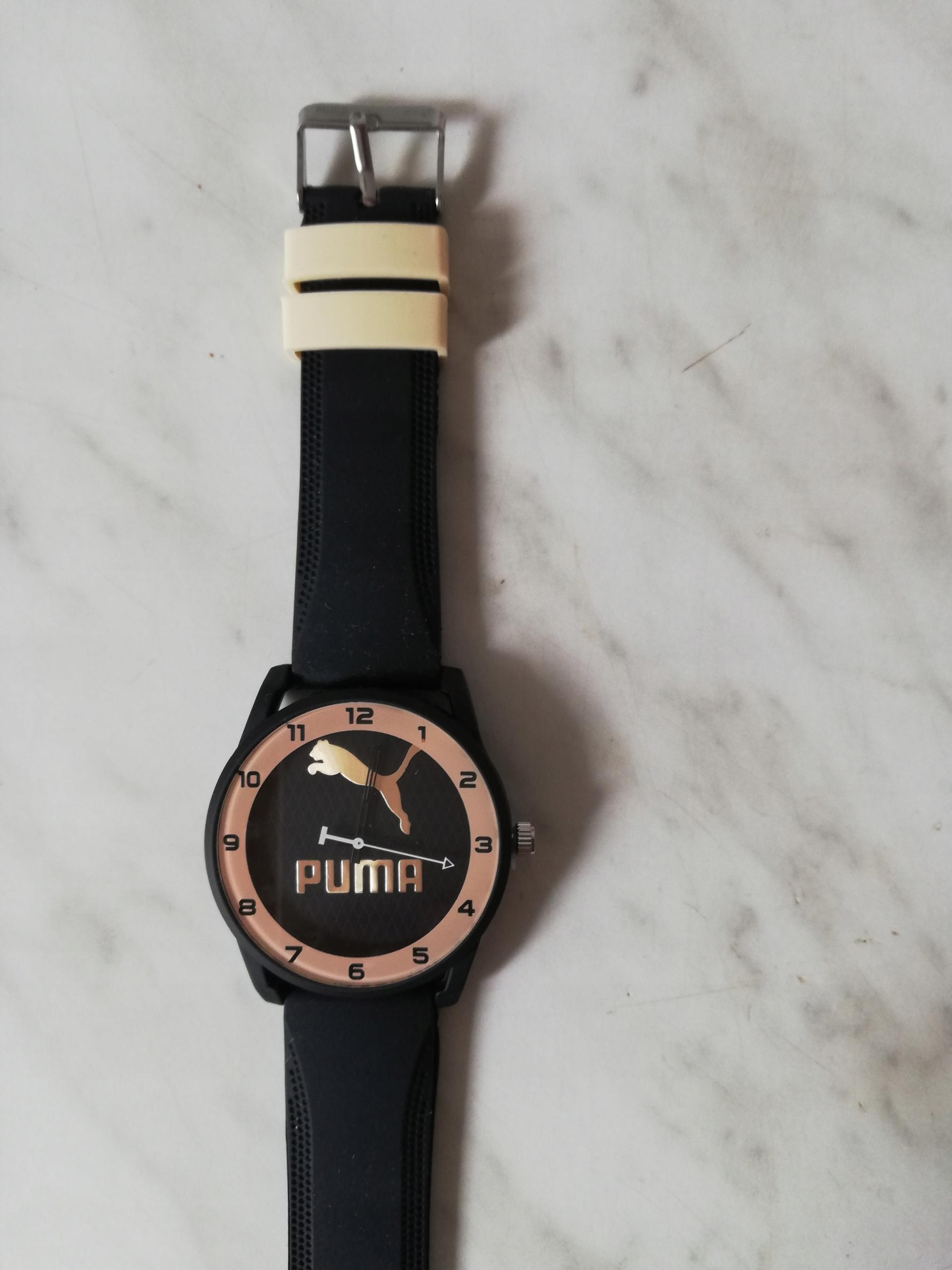 Elegancki zegarek PUMA SPORTOWY SILIKONOWY czarny