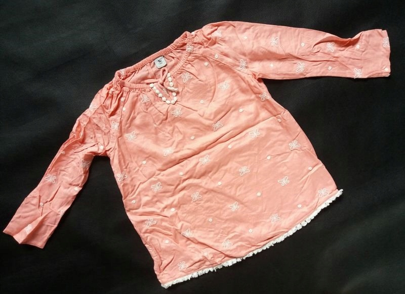 TU - różowa sukienka haft - r. 18-24 msc / 86-92cm