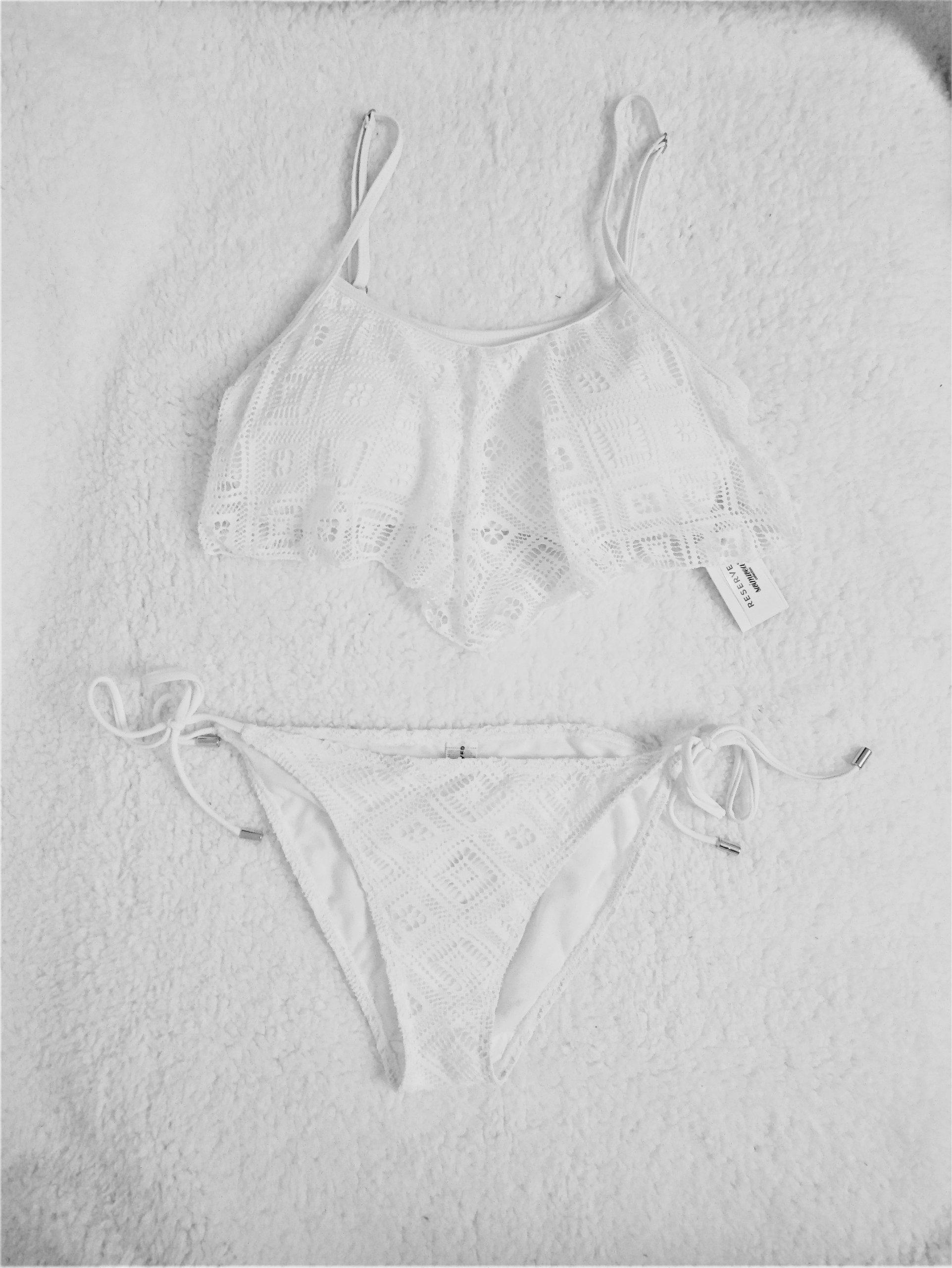 Reserved strój kąpielowy boho ażurowy koronkowy