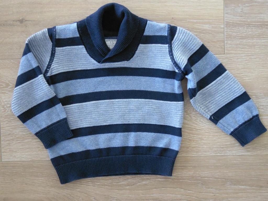 Early Days sweterek z kołnierzem 6-9m 74cm