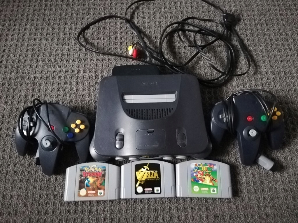 Nintendo 64 2 pady 3 gry zelda Mario pokemon