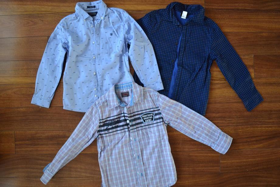 Koszula chłopięca 3X H&M Esprit Mayoral 6-7l.