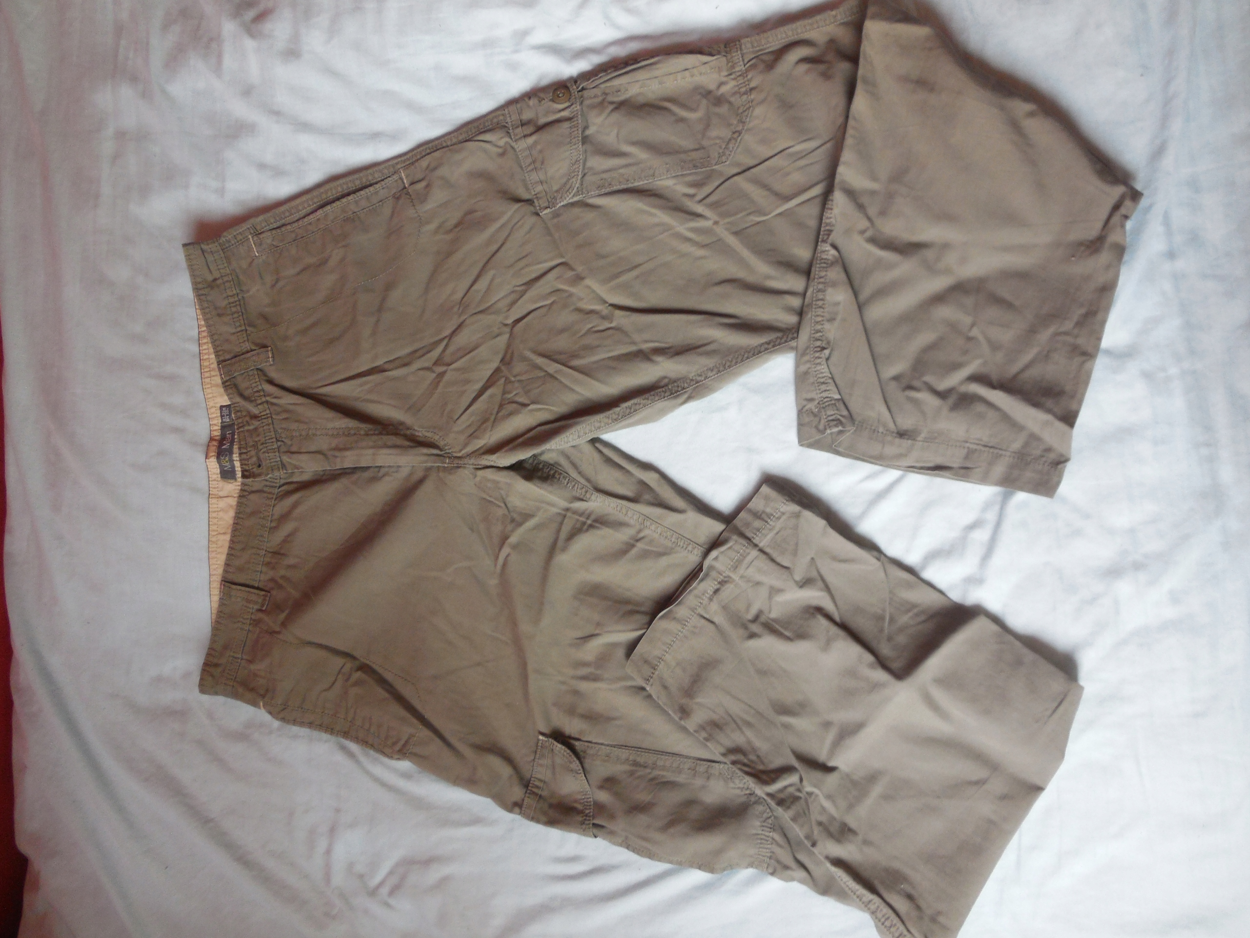 MARKS&SPENCER Spodnie bojówki męskie, rozm. L