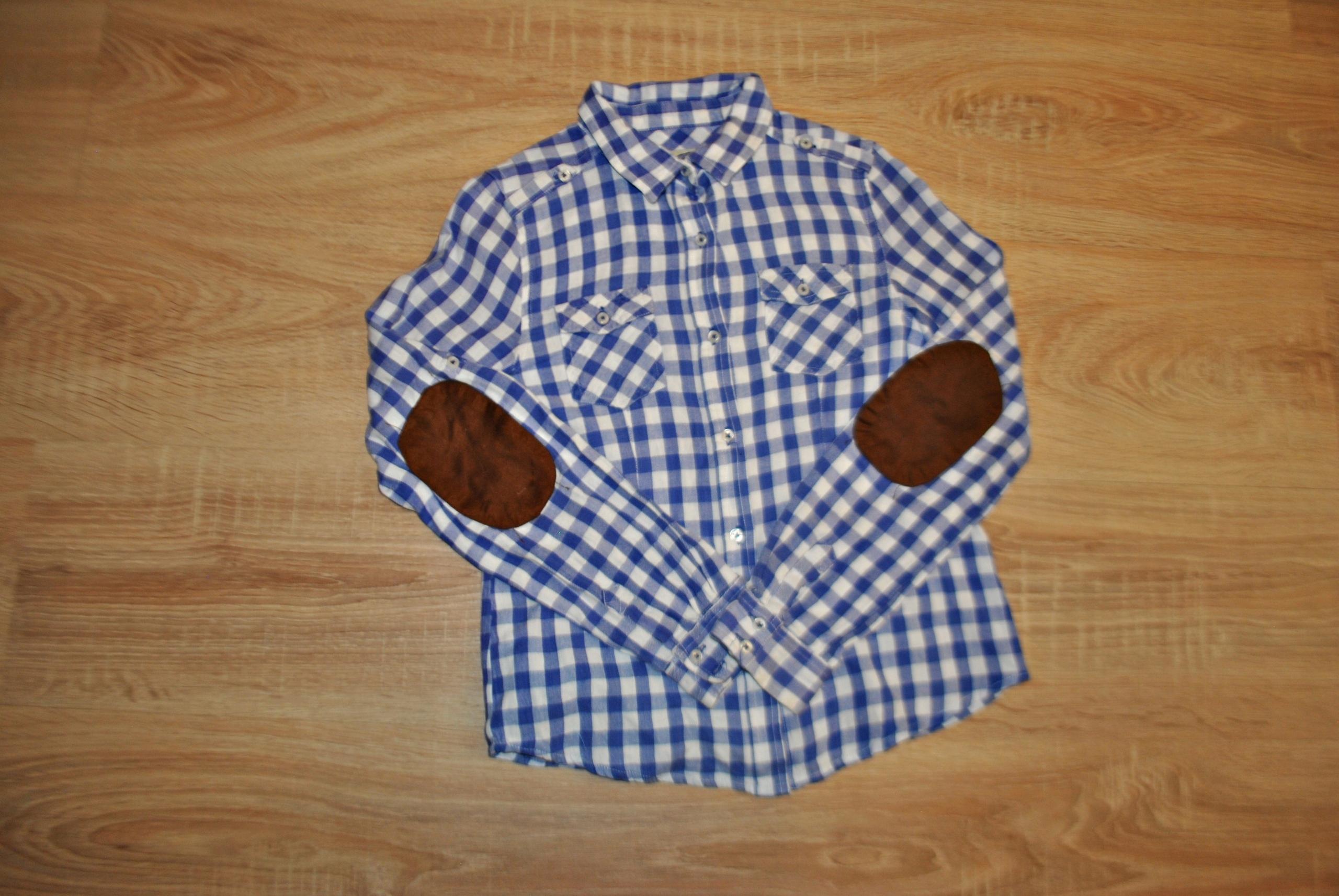 ZARA GIRLS śliczna miękka koszula ŁATY 140