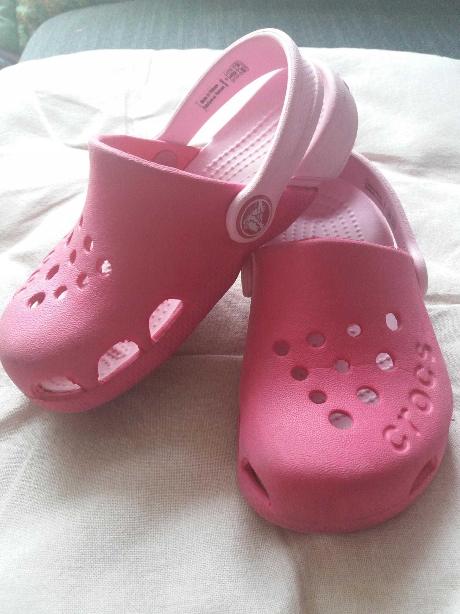 Crocs Buty Crocsy 26 27 C9 C10 16,6cm Róż Electro