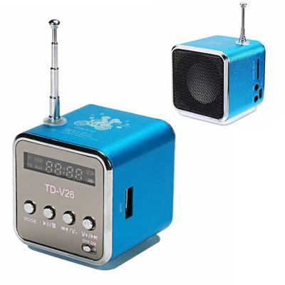 RADIO PRZENOŚNE MINI GŁOŚNIK FM MP3 SD +ładowarka
