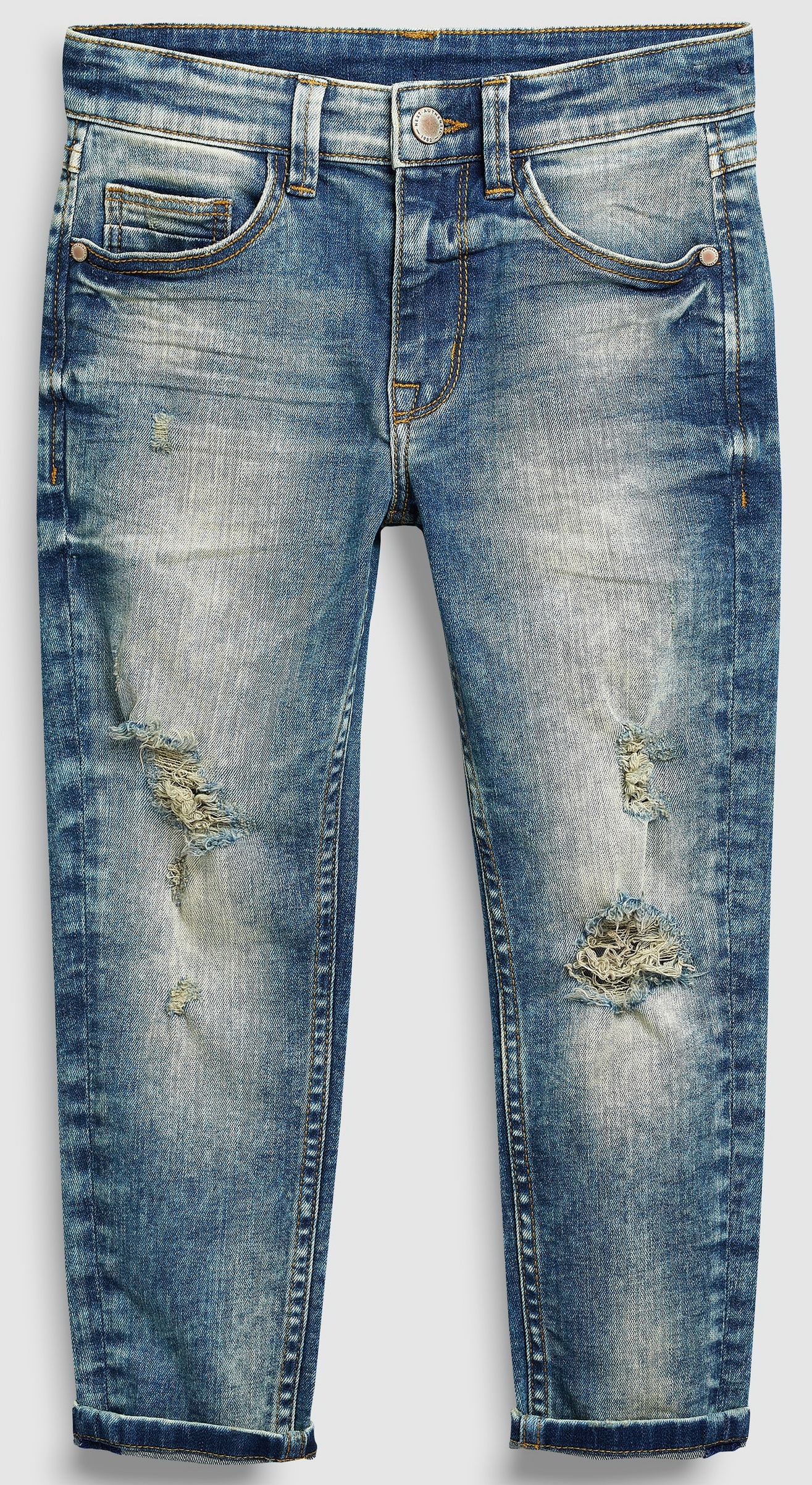 NEXT Blue Distressed Carrot Fit Jeans 7do 10L 2019