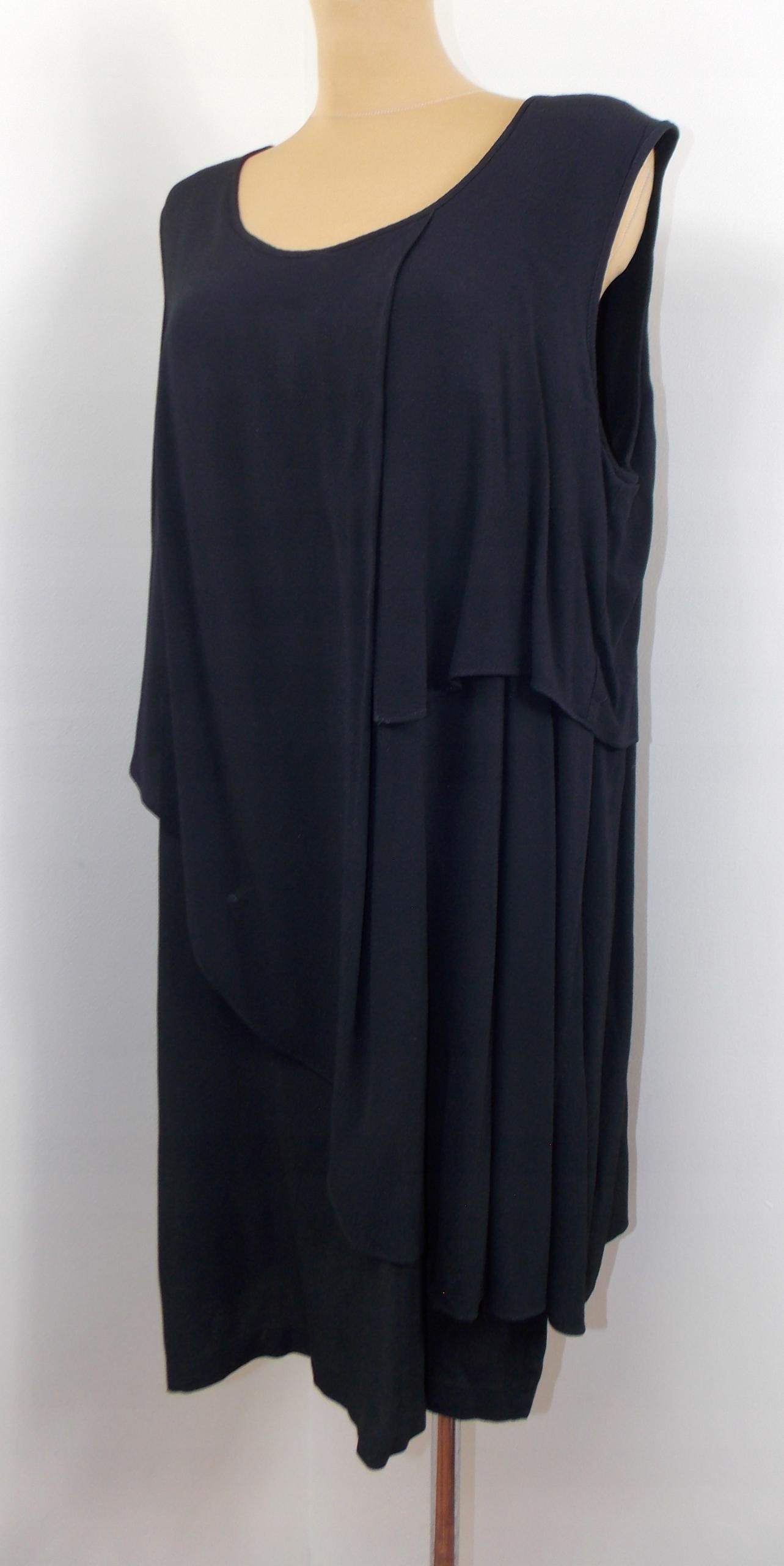 sukienka styl ZARA elegancka origami czarna 42